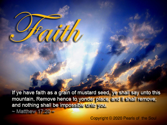 Word 2020  Faith Ye have faith as a grain of mustard deed