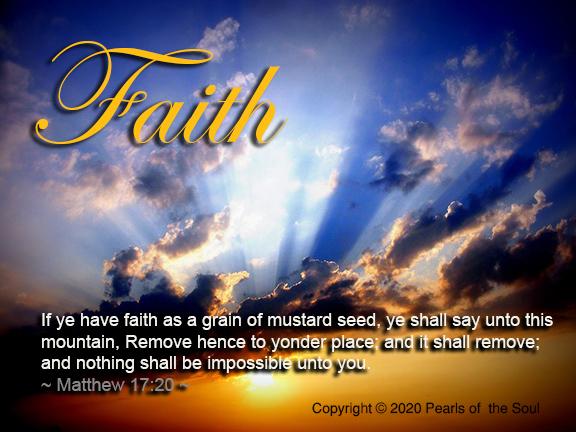 Word 2020  Faith Ye have faith as a grain of mustard deed